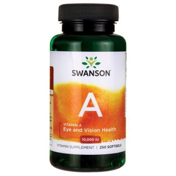 Swanson Vitamin A, 10.000 IE, 250 Softgels
