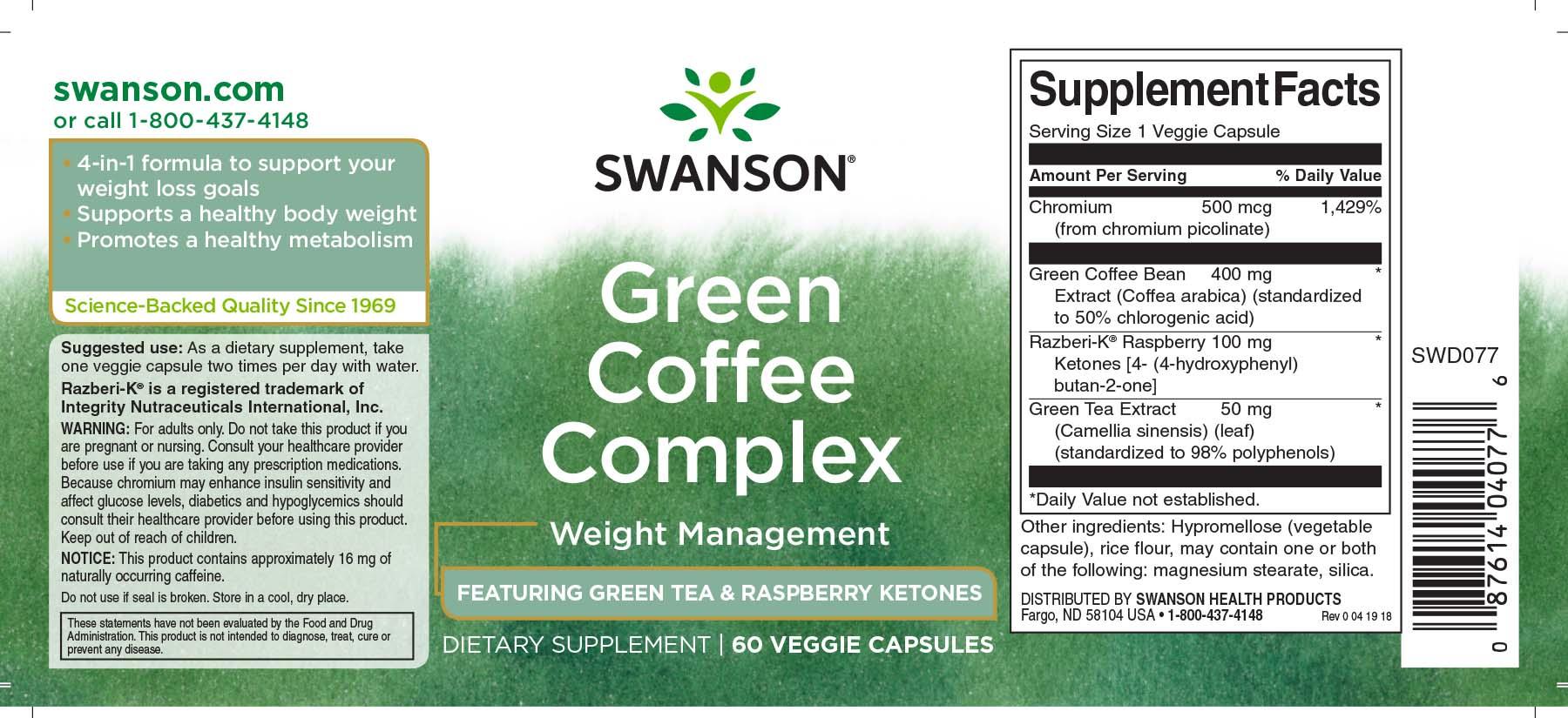 Green coffee complex vélemények