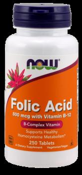 Folic Acid 800mcg + B-12 25mcg