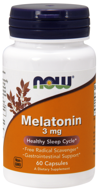 Melatonin 3mg 60 caps Nowfoods