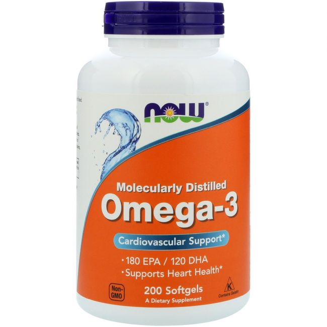 Omega-3, Molecularly Distilled Softgels