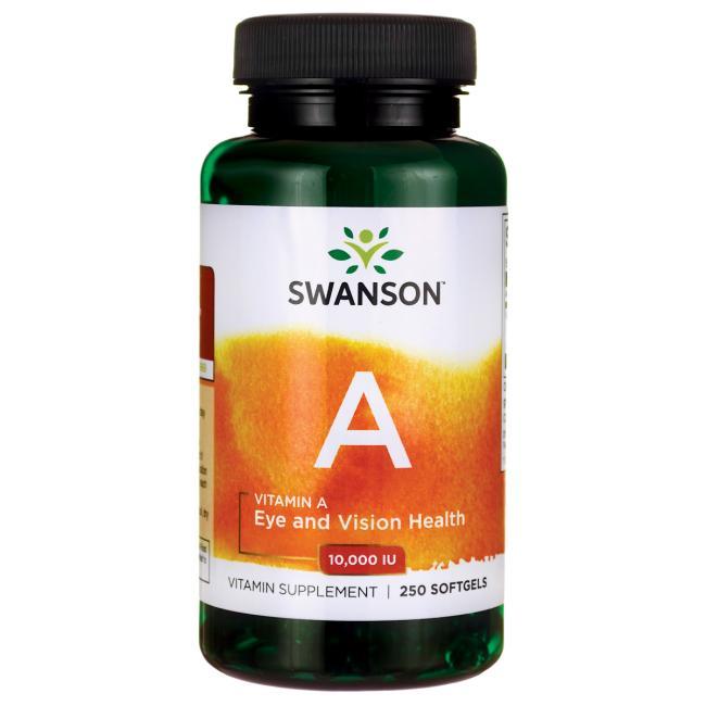 Swanson Vitamin A, 10,000IU, 250 Softgels