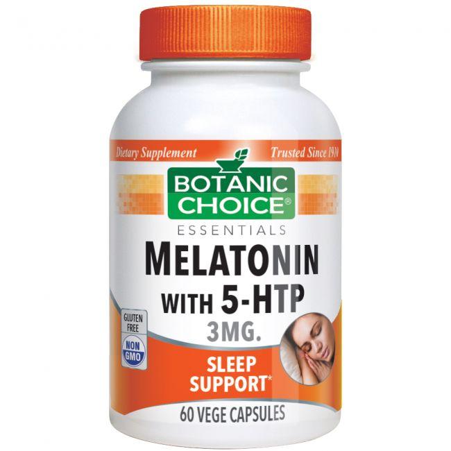 Melatonin with 5-HTP 3 mg 60 vege caps.