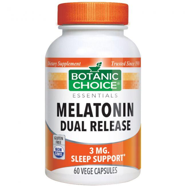 Melatonin 3 mg 60 vege caps. Dual Release