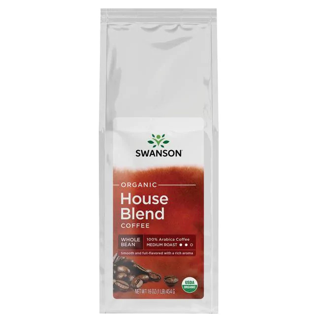 Organic House Blend Whole Bean Coffee - Medium Roast