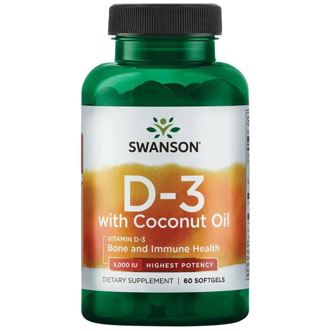 Vitamin D3 with Coconut Oil - Highest Potency